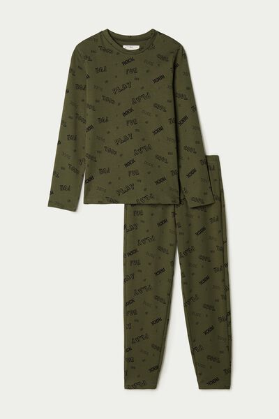 Boy's Long Pyjamas with Lettering
