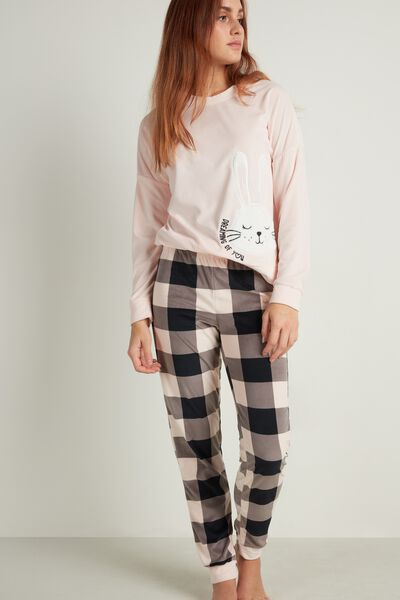 Rabbit Patch Long Microfleece Pyjamas