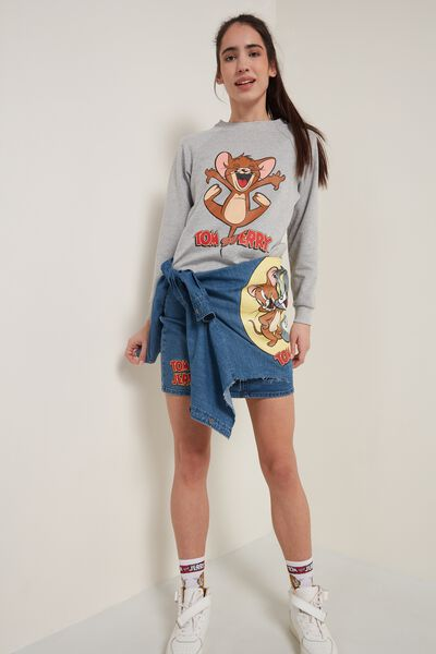Sweatshirt with Tom and Jerry Print