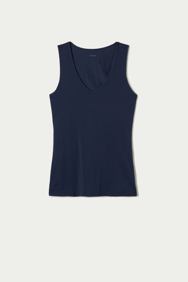Wide Shoulder V-Neck Cotton Camisole
