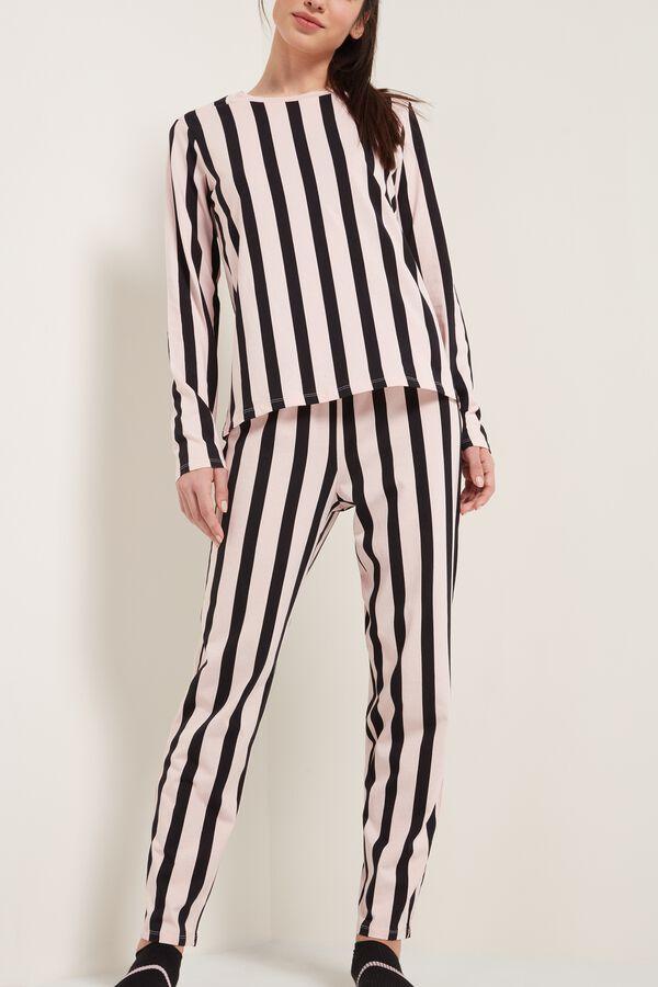 Long Cotton Striped Pajamas