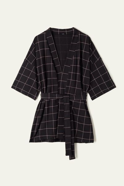 Short Sleeve Cotton Robe