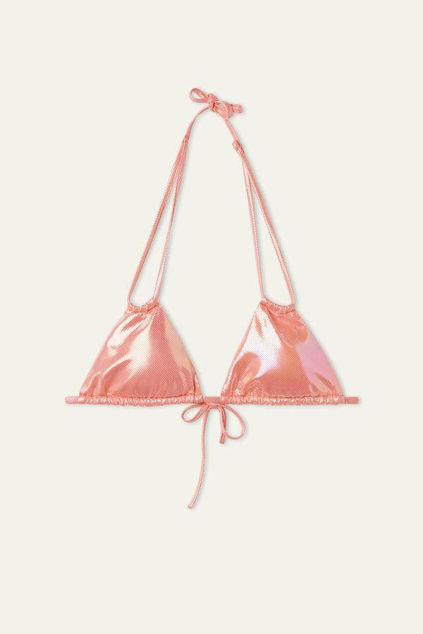 Glossy Sliding Triangle Bikini Top