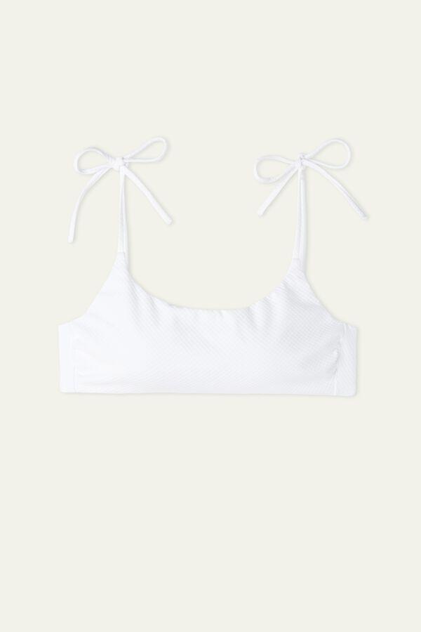 3D White String Bikini Bra