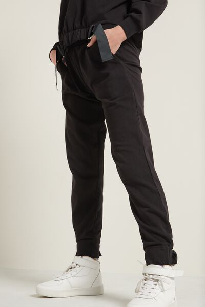 Long Fleece Cargo Pants with Detail