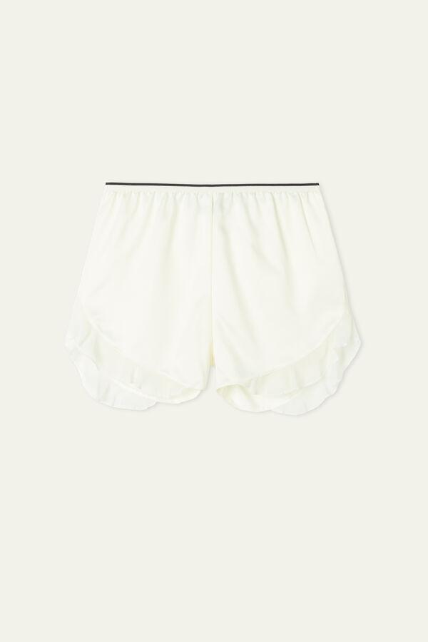 Ruched Satin Shorts