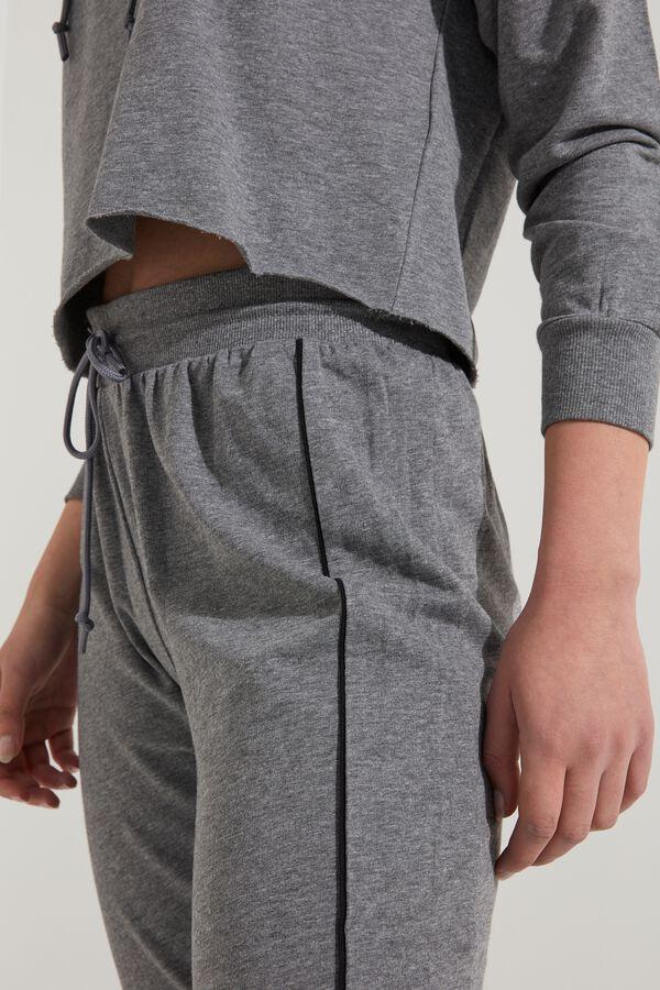 Pantalon Long Molletonné et Passepoilé