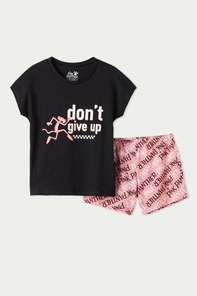 Kurzer Pyjama aus Baumwolle Der rosarote Panther