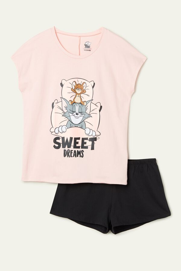 Short Cotton Tom and Jerry Sweet Dreams PJ Set