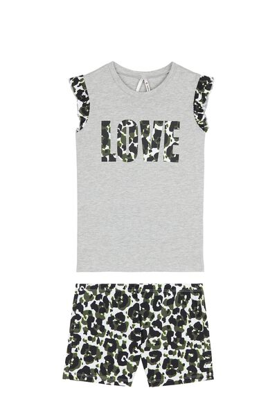 Short Neon Animal Print Pyjamas