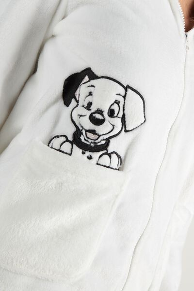Fleece Bathrobe with Disney 101 Hood