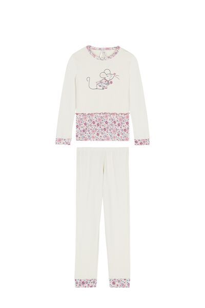 Girl's Long Flower Pyjamas