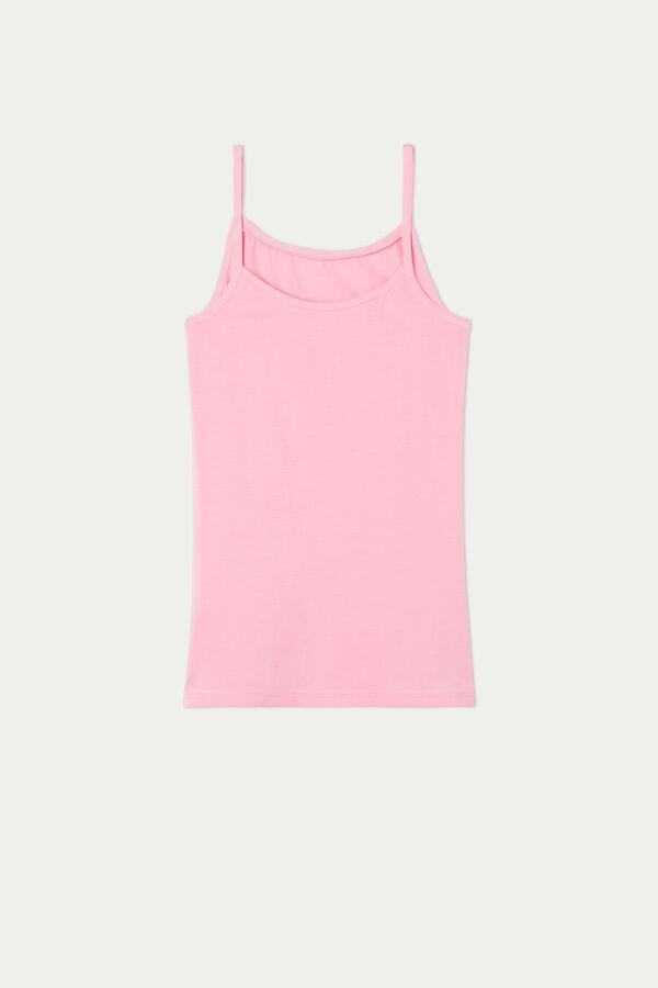Round-Neck Stretch-Cotton Vest Top