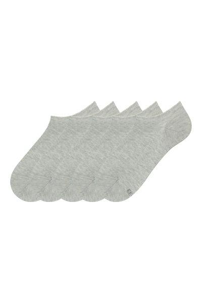 5 X Calcetines Cortos de Algodón
