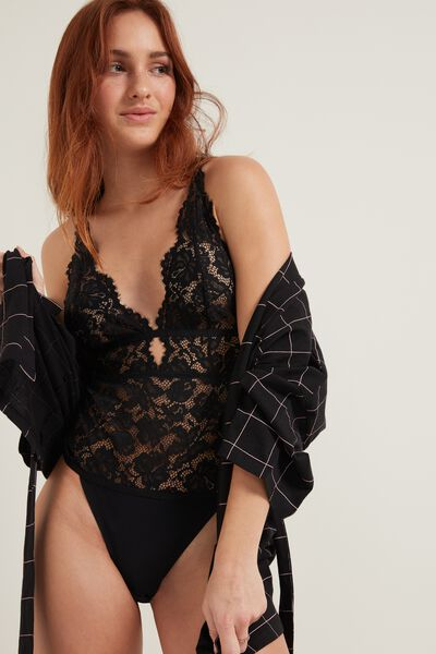 Body Triangolo in Pizzo Venise Lace