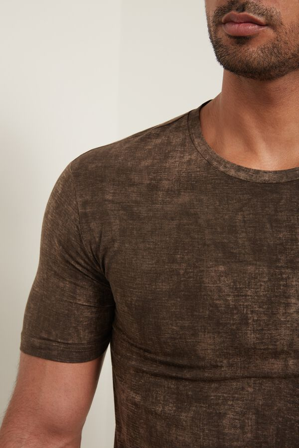 Stretch Cotton Gradient T-Shirt