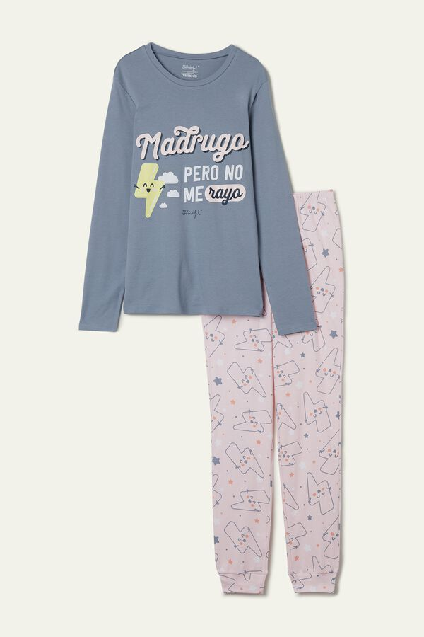 "Pijama Comprido Algodão Mr. Wonderful ""Happy lightning"""