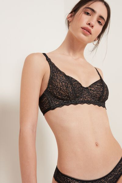 Paris Balconette Bra in Recycled Lace