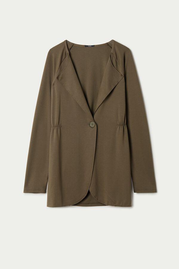 Viscose Blazer Jacket with Button