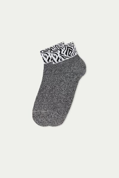 Шкарпетки-Підслідники з Візерунком і Контрастною Резинкою