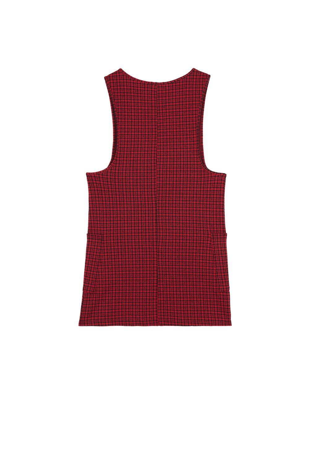 Buttoned Milano-Stitch Dungaree Dress