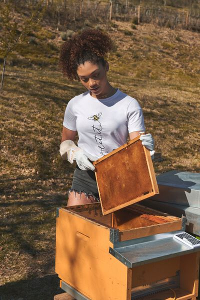 Organic Cotton Bee Print T-Shirt