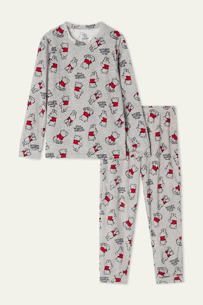 Unisex Long Microfleece Pyjamas with Winnie the Pooh Print