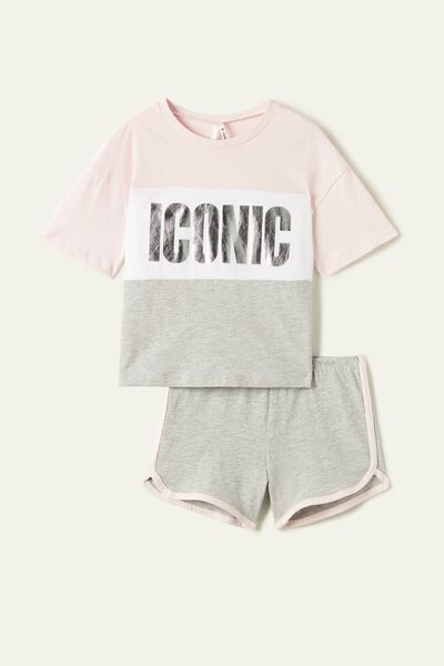 "Short ""icon"" Print Pyjamas"