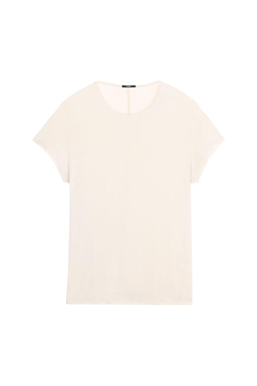 Tričko z Viskózy a Hodvábu s Krátkym Rukávom