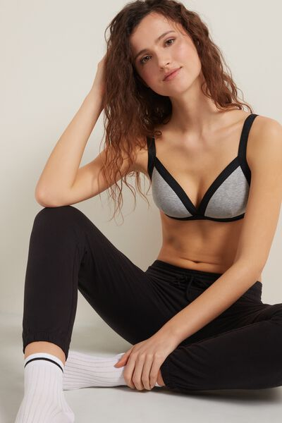 Soft Active Padded Triangle Bra