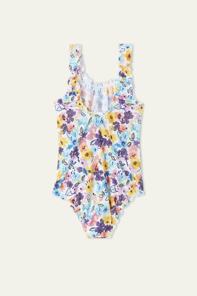 Badeanzug für Mädchen Color Flowers