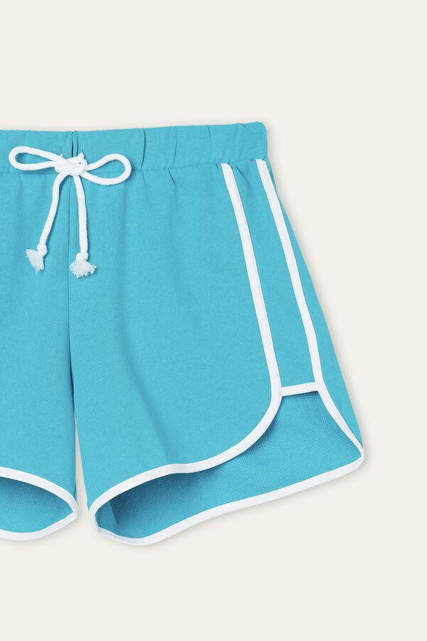 Fleece Shorts with Piping