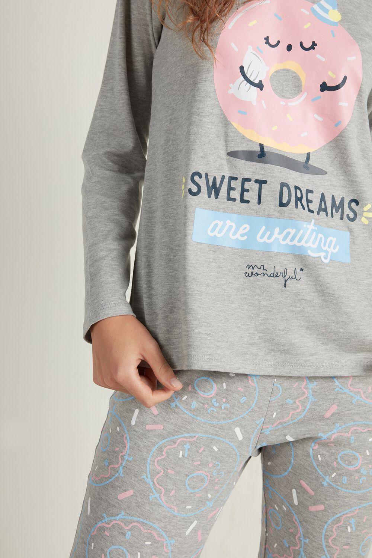 "Pijama Largo de Algodón Mr. Wonderful ""Sweet, sweet dreams"""