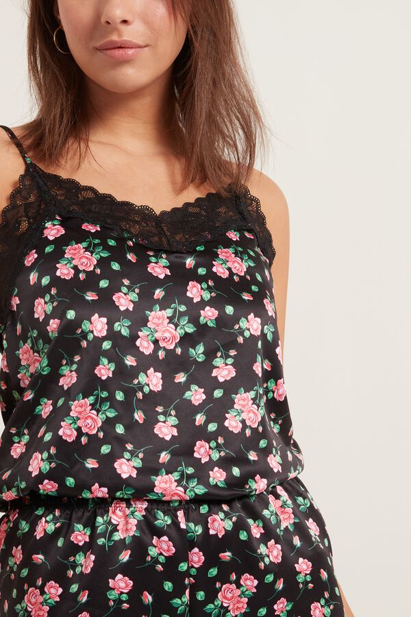 Satin and Lace Tank Top