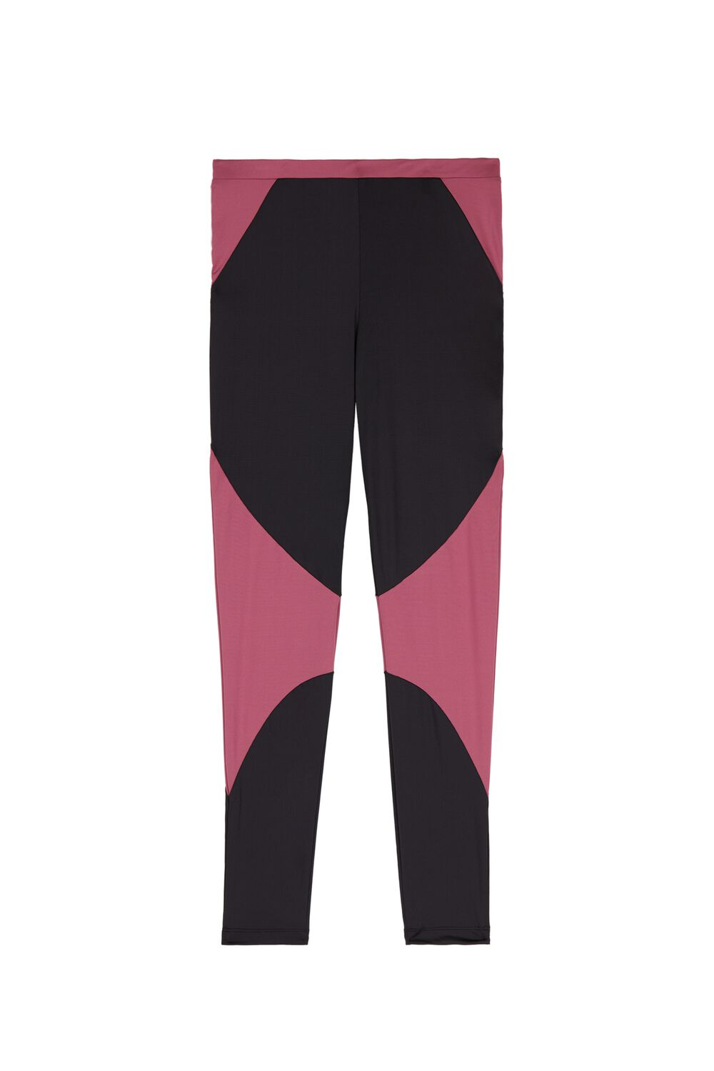 Contrast Color Microfiber Leggings