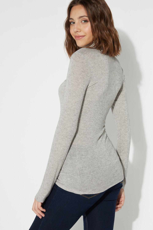 High-Neck Wool Shirt