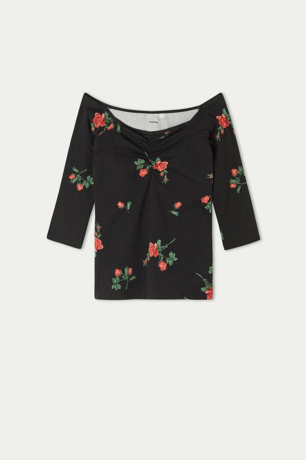 3/4 Length Sleeve Cotton Top