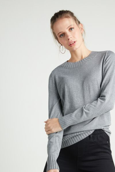 Long-Sleeved Round-Neck Jersey