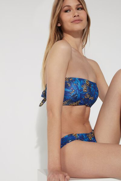 Bikini Bandeau Tropical Estampado Animal