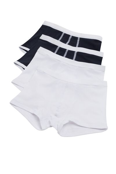 4 X Stretch Cotton Boxer Trunks