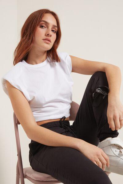 Camiseta de Algodón con Tirantes con Relleno