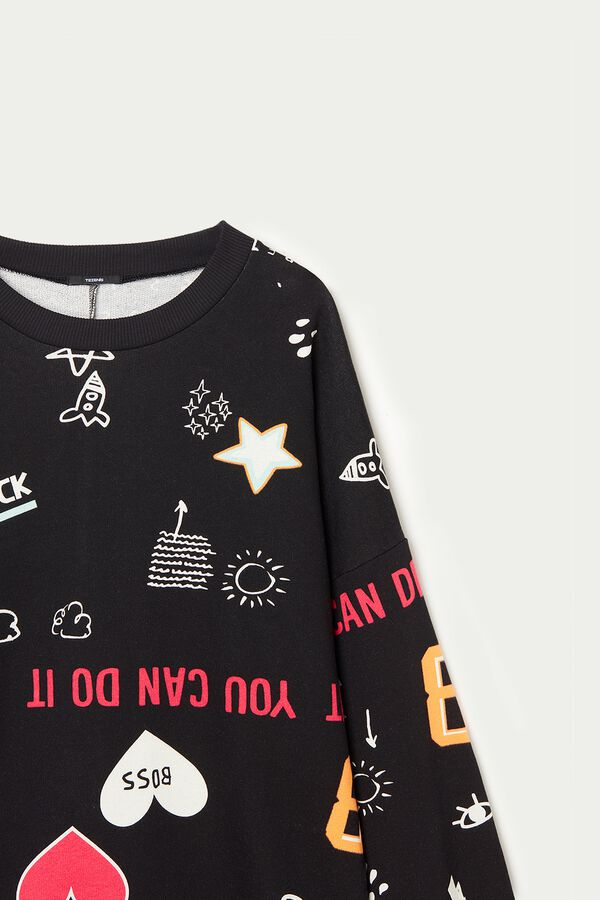 Long-Sleeve All-Over Print Sweatshirt