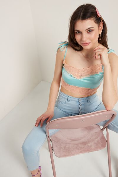 Σουτιέν Bra Top Pastel Satin