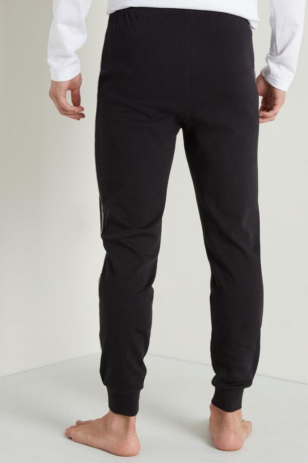 Dlouhé Pipingové Kalhoty z Hrubé Bavlny