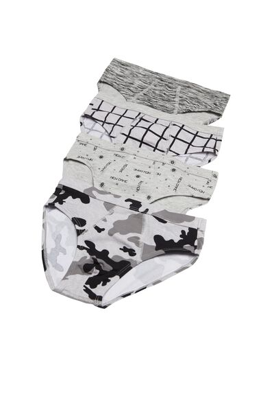 Pack of 4 Printed Cotton Knickers