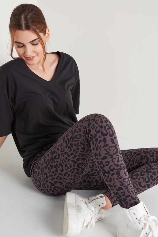 Bedruckte Baumwoll-Leggings