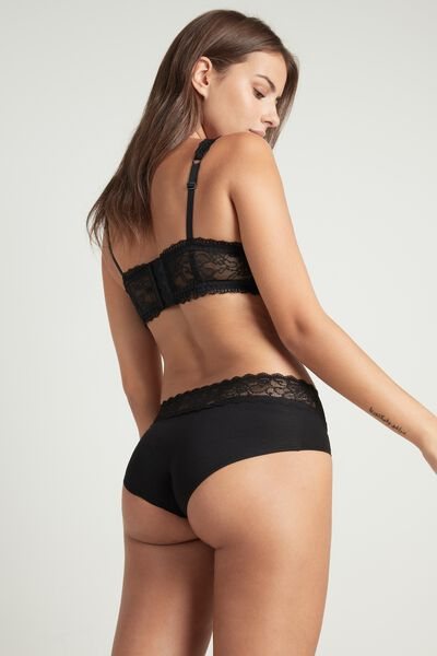 Cotton and Lace Brief