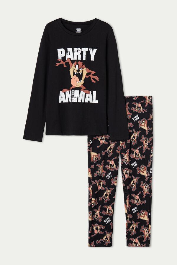 Pyjama Long Coton Épais Garçon Imprimé Taz