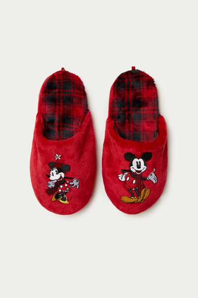 Chaussons/Pantoufles en Polaire Mickey Mouse & Minnie