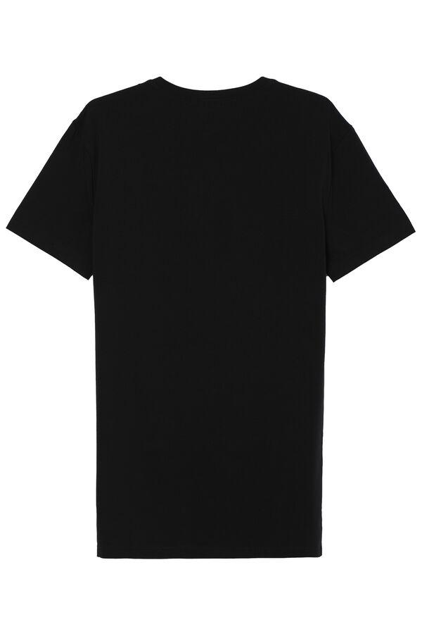 T-Shirt mit V-Ausschnitt aus Stretch-Baumwolle